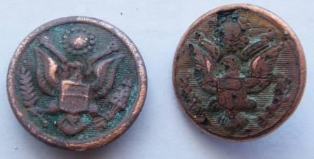 US military button find