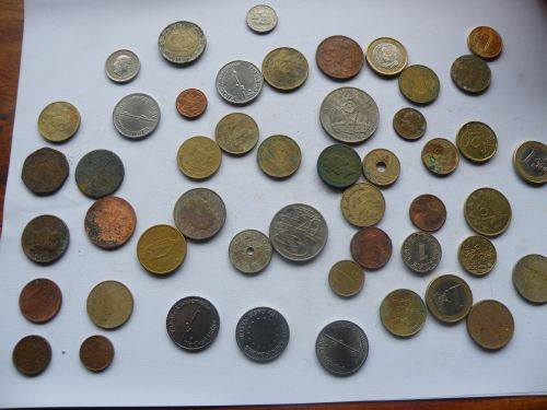 Foreign Coins found in 2012 by my wife and myself