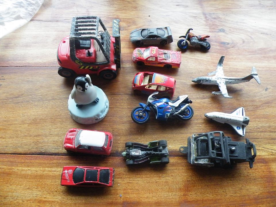 Toys found in 2012 by my wife and myself