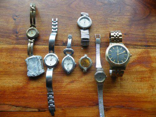 Watches found in 2012 by my wife and myself