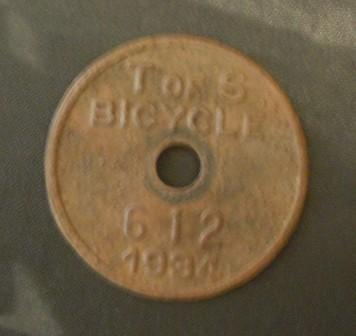 Metal Detecting Bicycle licence