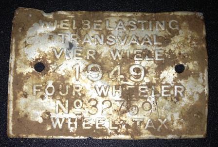 Four Wheeler licence plate