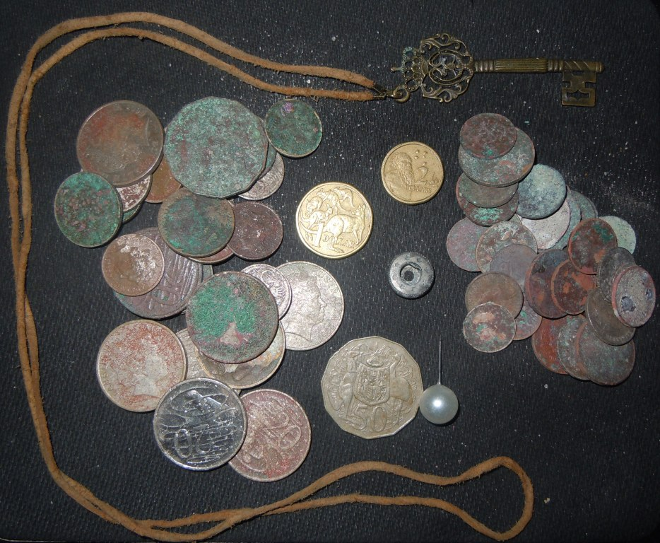 Metal Detecting finds Gold Coast Australia