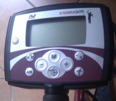 X-terra 505 Minelab screen