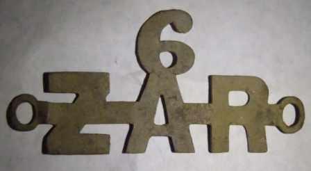 Cleaned ZAR badge