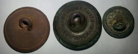 Metal detecting buttons
