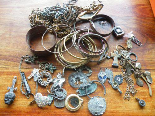 Costume jewelry found in 2012 by my wife and myself