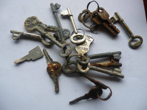 Keys found in 2012 by my wife and myself